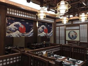 八剣伝唐山(タンシャン)店の店内の様子
